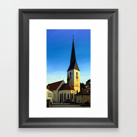 The village church of Zwettl a.d. Rodl | architectural photography Framed Art Print