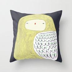 Fat Owl Throw Pillow