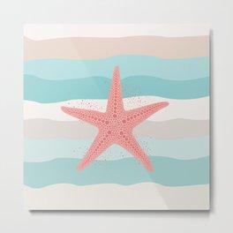 AFE Coral Starfish Metal Print
