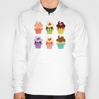 cupcakes Hoodies featuring Cupcakes by Carolina Pineda