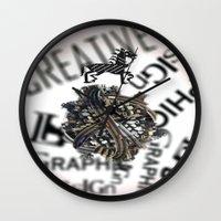 pixel Wall Clocks featuring Pixel by VERTIgO