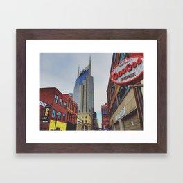 Downtown Nashville Framed Art Print