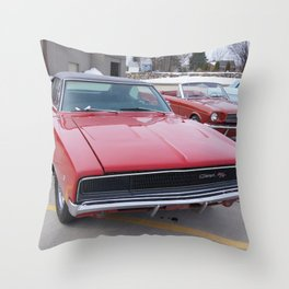 Vintage 1968 Torred MOPAR 426 Hemi Charger Muscle Car Color photography / photographs Throw Pillow
