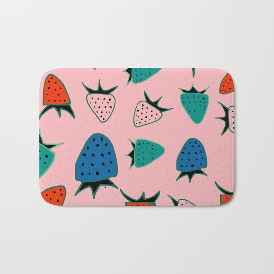 strawberry pink Bath Mat