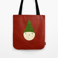 elf Tote Bags featuring Elf by Inmyfantasia