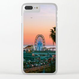 Sunset on the Pier Clear iPhone Case