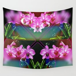 Charming Orchids Wall Tapestry