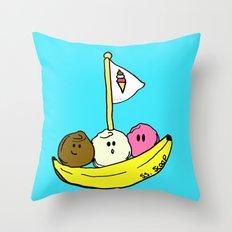 Banana Boat Throw Pillow