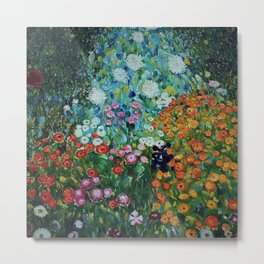 Flower Garden Riot of Colors by Gustav Klimt Metal Print