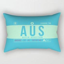 Baggage Tag B - AUS Austin Bergstrom USA Rectangular Pillow