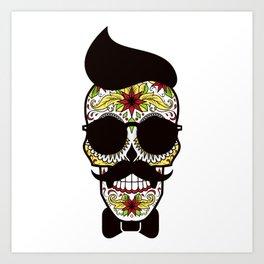 Mr. Sugar Skull Art Print
