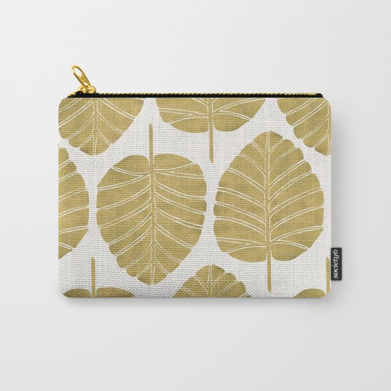 Elephant Ear Alocasia – Gold Palette Carry-All Pouch