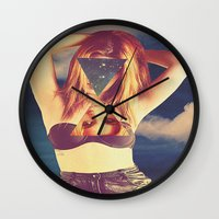 psychedelic Wall Clocks featuring psychedelic by Dani L.