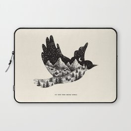 FLY INTO YOUR DREAM WORLD Laptop Sleeve