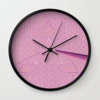 floyd Wall Clocks featuring Pink floyd  by Queen Lizard