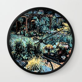 Night in the Garden Wall Clock