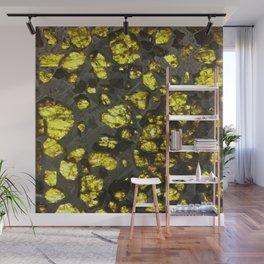 Yellow Cystal Ore Wall Mural