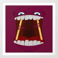 mouth Art Prints featuring Mouth by Alex Tim