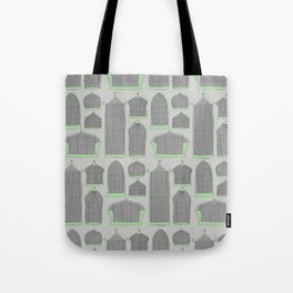Birdcages (Gray) Tote Bag