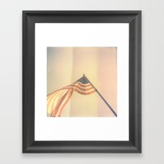 America Polaroid Framed Art Print