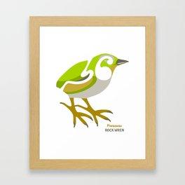Rock Wren New Zealand Bird Framed Art Print