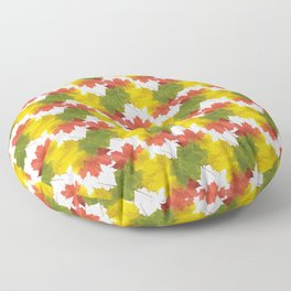 Leaves and Colors Floor Pillow