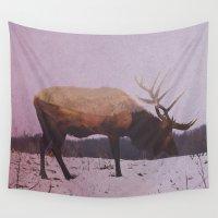 elk Wall Tapestries featuring Elk by Andreas Lie