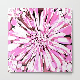 Dahlia Explosion Abstract Pink Metal Print