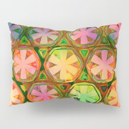 Rainbow Flower Octagons Twilight Pillow Sham