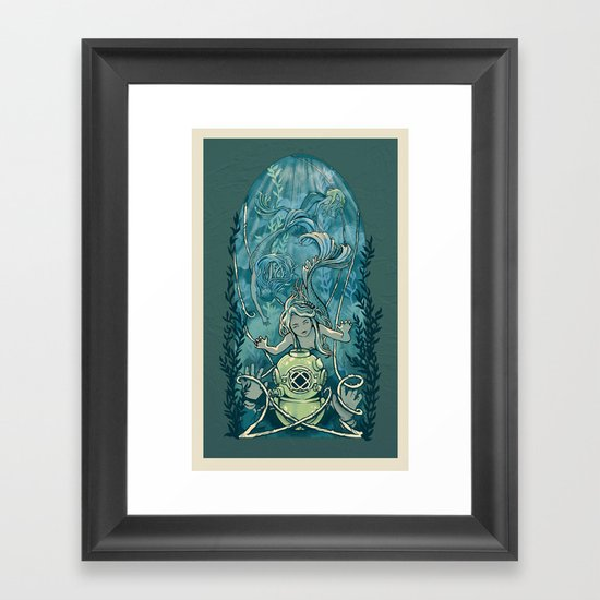 s'accrocher à l'amour Framed Art Print