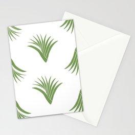 Pandanus Leaf Pattern - Green Stationery Cards