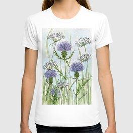Thistle White Lace Watercolor T-shirt