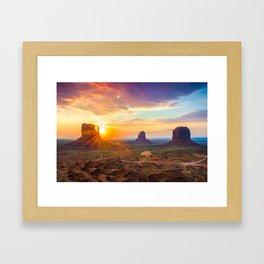 Monument Valley Framed Art Print