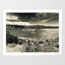 The Wind and the Waves in Black and White Art Print