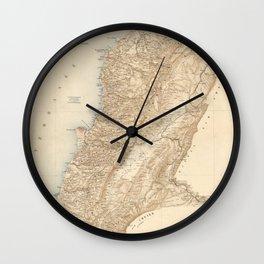 Vintage Map of Lebanon (1862) Wall Clock