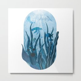 Underwater sea life ocean life water creatures Metal Print