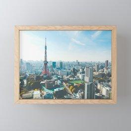 Tokyo Tower in the Morning Framed Mini Art Print