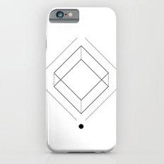 Inverted square geometry white iPhone 6s Slim Case