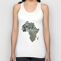 african Tank Tops featuring African Continent by ArtSchool