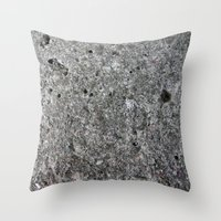 concrete Throw Pillows featuring concrete by Seed Margarita