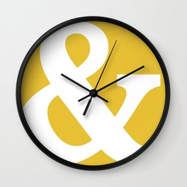 Ampersand Mustard Yellow Wall Clock