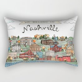 We Belong in Nashville Rectangular Pillow