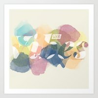 good vibes Art Prints featuring GOOD VIBES by Lasse Egholm