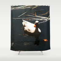 duck Shower Curtains featuring Duck by Ellyne