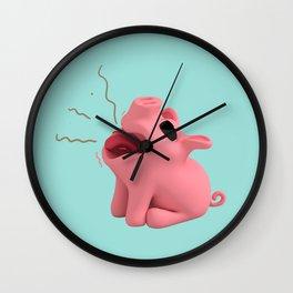 Rosa the Pig Burps Wall Clock