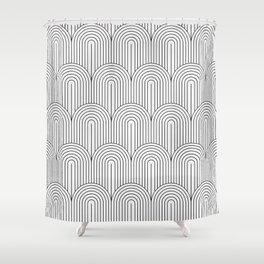 Art Deco Arch Pattern IX Shower Curtain