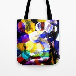 moon in colorful mood Tote Bag
