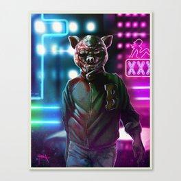 Jacket - Hotline Miami. Canvas Print
