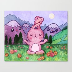 Bunny Yoga Canvas Print