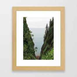 cape split Framed Art Print
